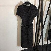 Дизайнерские платья модное Повседневное платье с короткими рукавами Элегантное Вечерние 2018 тонкое облегающее платье женское