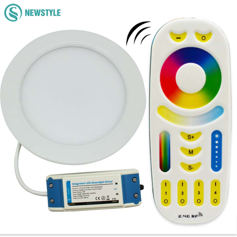 12W 2 4G Milight Led Panel Ceiling Down light Dimmable Light Color Color Temperature and Saturation