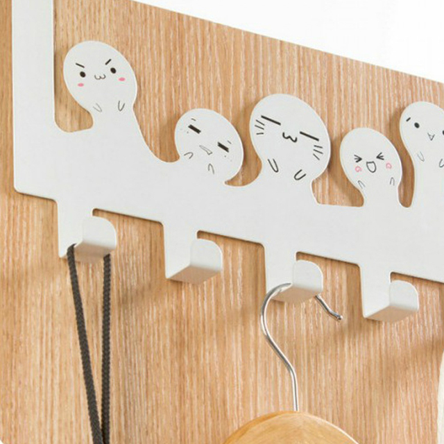 Charmant 1 Pc 5 Hooks Home Bathroom Kitchen Hat Towel Hanger Over Door Hanging Rack  Holder Mini