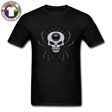 Venom Skull Spider Geek T Shirt Scoundrel Illuminati Dead Skull Man Tshirt O-Neck Summer/Autumn Cotton T-shirts Fashionable scoundrel