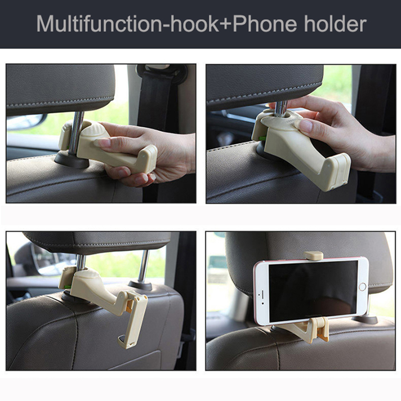 Gsfy Wholesale Convenient Double Vehicle Hangers Auto Car Seat Headrest Bag Hook Holder New Robe Hooks