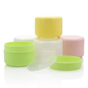 Image 3 - 10PCS Refillable Bottles Plastic Empty Makeup Jar Pot Travel Face Cream/Lotion/Cosmetic Container 5 Colors