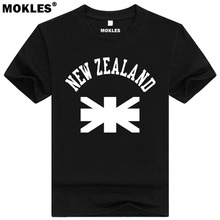 NEW ZEALAND t shirt diy free custom made name number nzl t-shirt nation flag nz maori country college university print clothing