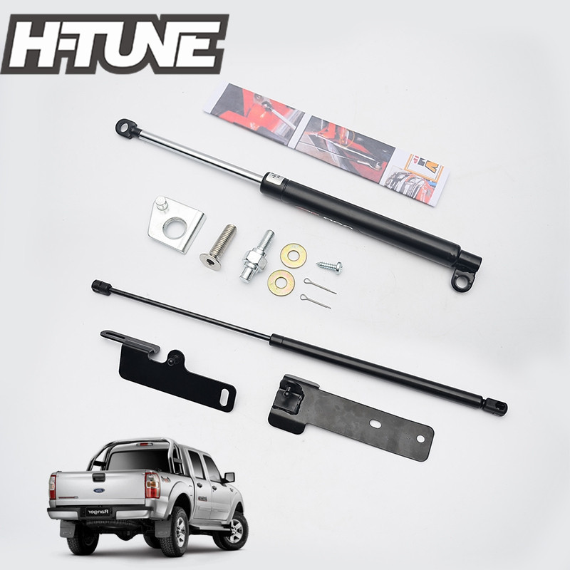 H TUNE 4x4 Pickup Front Bonnet Hood Rear Tailgate Gas Shock UP Strut Kit for Ranger