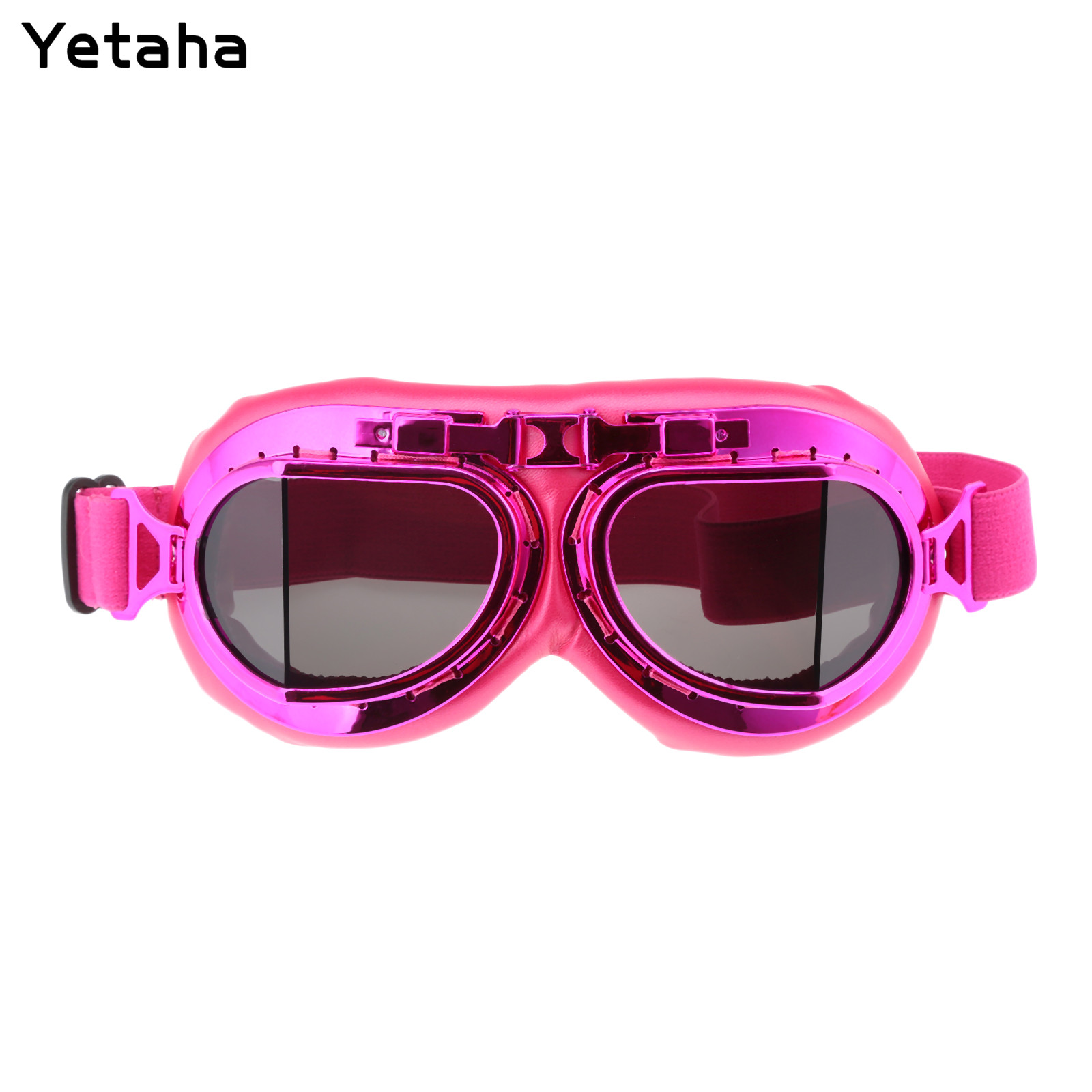 Yellow Motorcycle Glasses UV Protective Sandproof Retro Jet Aviator Pilot Goggles Motor Bike Reflective UV Protection Goggle