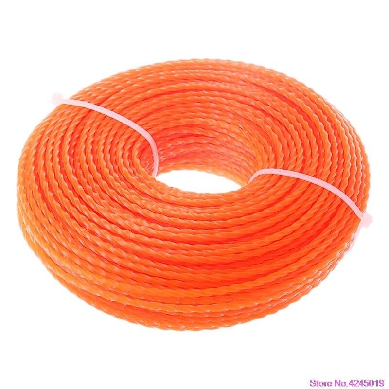 Новый 3,0 мм Диаметр триммер линии кусторез Мощность нейлон крутить веревку с травы