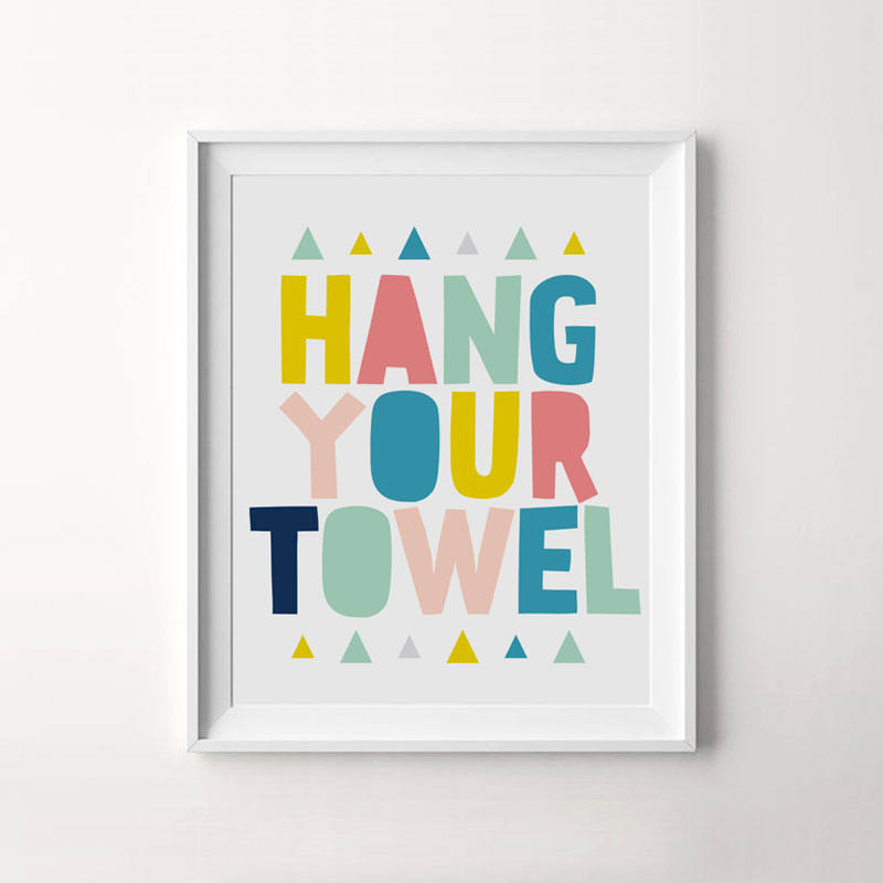 Bathroom rules canvas art print decor