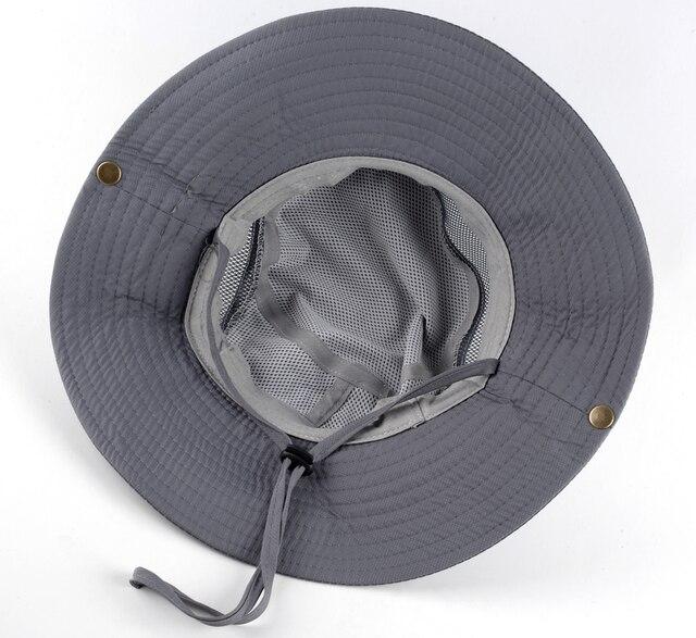 Men's Bob Summer Bucket Hats Outdoor Fishing Wide Brim Hat UV Protection Cap Men Hiking Sombrero Outdoor Gorro Hats For Men 3