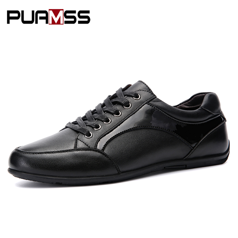 2017 New Brand Men Shoes Mens Genuine Leather Casual Shoes Men Sheepskin Spring Autumn Male Shoes Casual Flats Plus Size 46 47 plus size 42 men denim jeans new 2017 autumn brand afs jeep loose free type breathable male casual clothing pantacourt homme