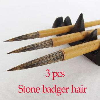 3pcs Chinese Calligraphy Brushes with long pen tip weasel hair brush for artist painting calligraphy art supplies