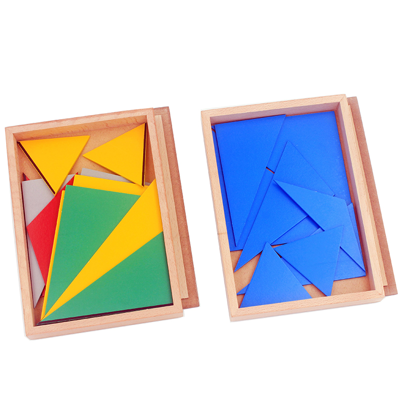 montessori triangulos construtivo retangular pentagono 5 conjuntos preschool educacional cedo 05