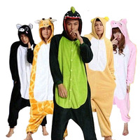 Unicorn Stitch Panda Kigurumis Pajamas Sets Unisex Flannel Hoodie Sleepwear Cosplay Animal Clothing For Men Women