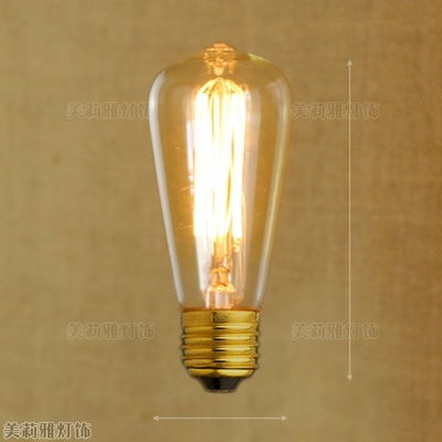 Lâmpadas Incandescentes st64 st58 ampolas decorativas a19 Matéria-prima : Alumínio