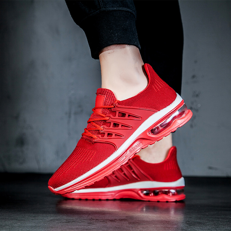 Altura grey Hombres Boty Zapatos Aire Obuv Moda Respirable Casual Krasovki Aumento Calcados red Tenisky Air Black nP0dqBx60