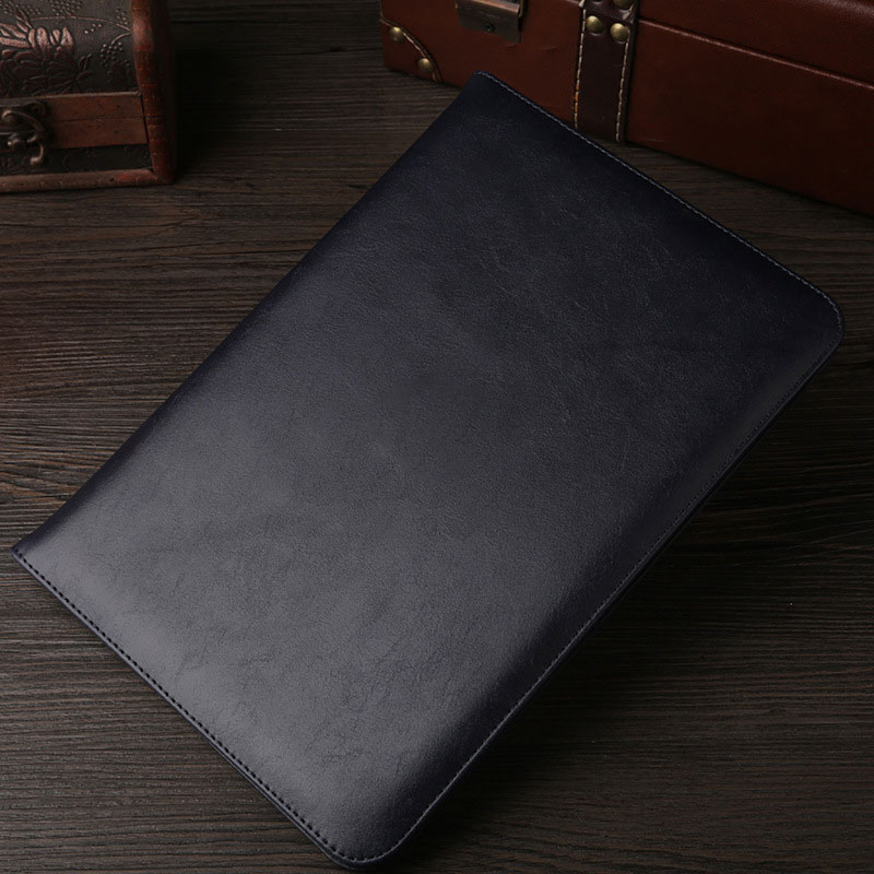 Dark Blue Leather retro style smart portfolio case for iPad 2018 9.7 inch (A1893, A1954)