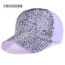 CRUOXIBB Wholesale Baseball Cap Brand Unisex Snapback cap Sequins Solid Cotton hat Casquette Bone Caps 2017 Summer female gorras