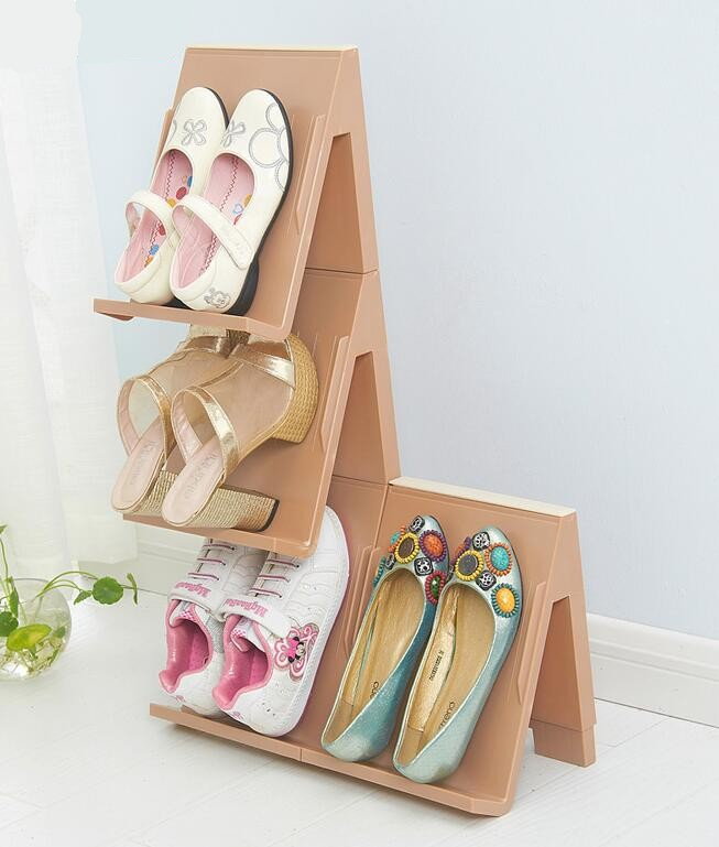 Assemble Shoe Rack Shoe Hanger Save Space Shoe Storage Organizer Shoe Stand lovely multilayer storage rack mounted within eight color combination shoe up and down to save space
