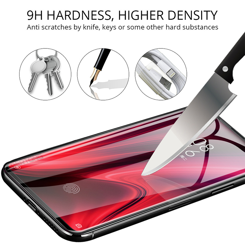 Image 2 - 2 in 1 Protective Glass For Xiaomi Mi 9T K20 Pro Camera Screen Protector Safety Film Lens Tempered Glass On Redmi Red mi K20 Pro-in Phone Screen Protectors from Cellphones & Telecommunications