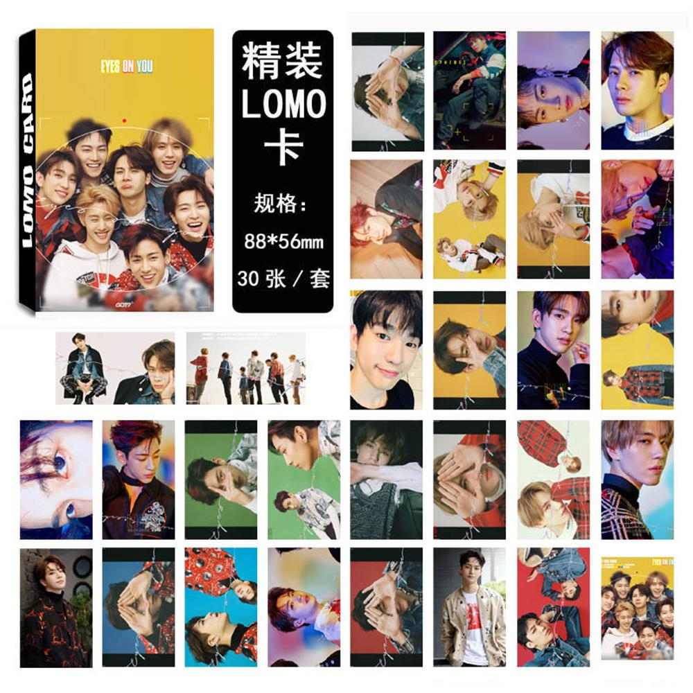 Kpop Got7 Album Mark Lomo Cards K-pop New Fashion Self Made Paper Photo Card Hd Photocard Beads & Jewelry Making