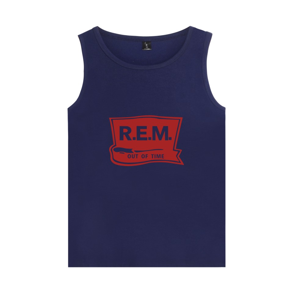 Rock Band Rapid Eye Movement R.E.M Vest Summer Sleeveless Shirt Cool Cotton C.R.E.A.M. Loose Tank Top For Men Women Fitness 4XL