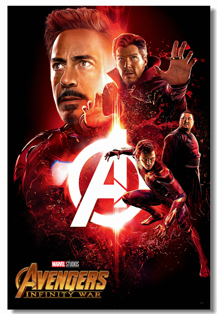 Us 575 28 Offcustom Canvas Wall Painting Avengers Infinity War Poster Iron Man Sticker Mural Marvel Doctor Strange Wallpaper Bar Decal 0326 In