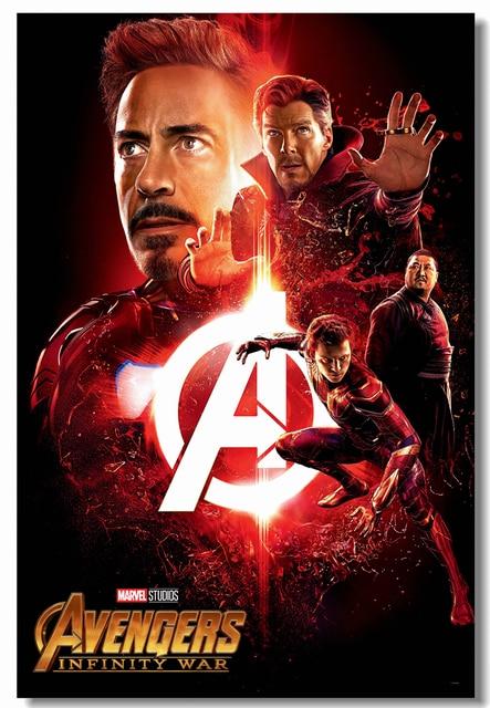 custom canvas wall painting avengers infinity war poster iron man sticker mural marvel doctor strange wallpaper