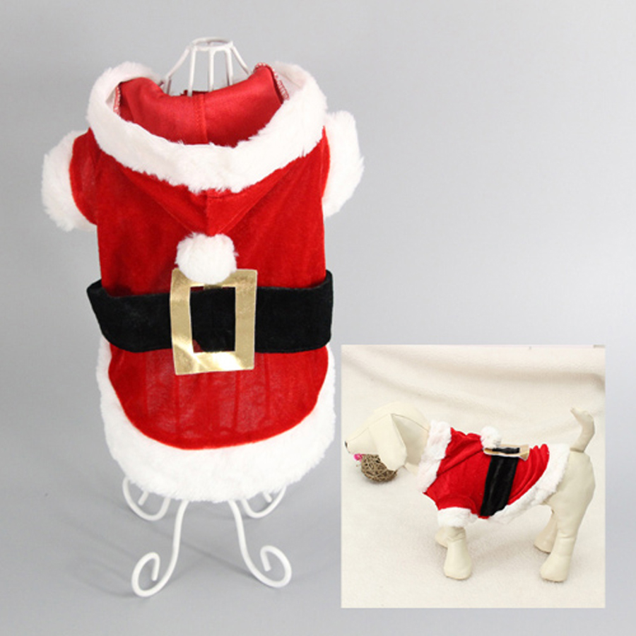 Pet suns Santa Claus modelis Pet Coat Small Dog Cat Pet Clothes Dog - Mājdzīvnieku produkti