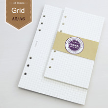 Hand Account Page Hole Loose Leaf Notebook For Core Filofax A6 A5 Adapter With Grid Core Planner Diary Sketchbook Personal Diary ppyy new personal pocket organiser planner filofax diary notebook pu leather cover