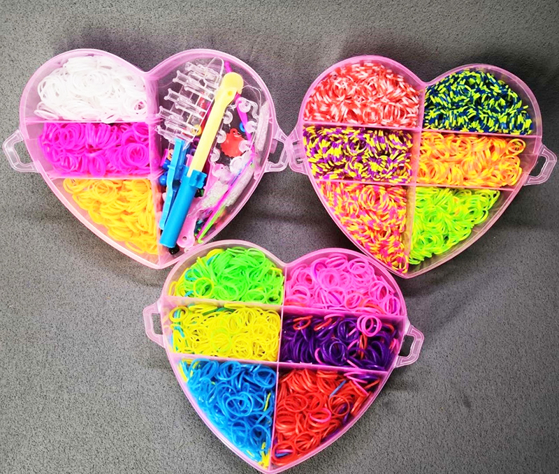 Image 3 - ילדי צבעוני גומייה נול סט DIY קרפט צעצוע אלסטי צמיד סט אריגת מכונת סרט סרוג דמויות קסמי צעצועצעצועי עבודת ידצעצועים ותחביבים -