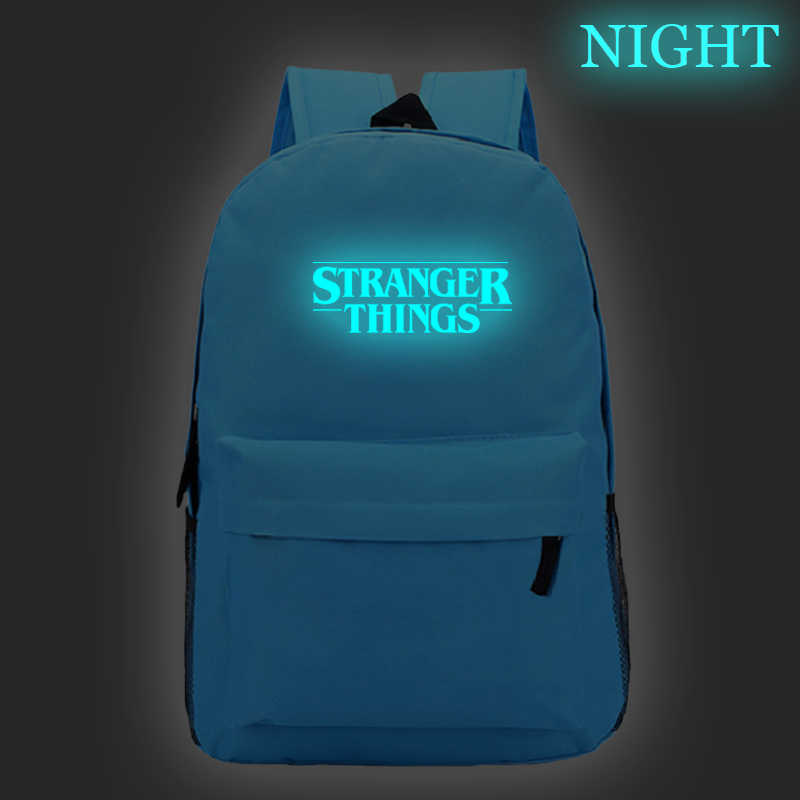 Back To School Backpack Kids Glow On The Dark Sac a Dos Stranger Things 19Nxk Anime Basic Travel Customize Bag Mochila Notebook