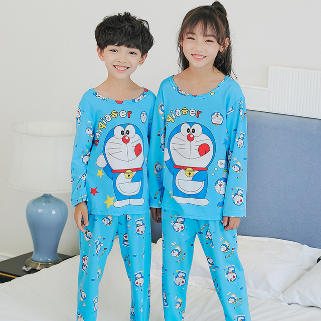 c415363f3d Children Cloth autumn Nightwear Girls Baby Pajamas Cotton Princess  Nightgown Kids Home Cltohing Girl Sleepwear Kids Tops+pants