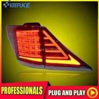 SmRKE для Toyota Alphard 07 13 светодиодный фонарь задний фонарь светодиодный DRL + тормоз + Park + сигнала остановить автомобиль стиль