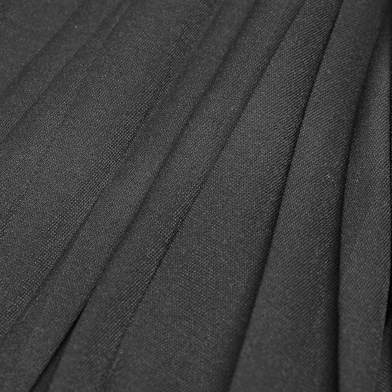 En Plissée De Non Opq Rave Foncé Soie Tissu Femmes 303lqf Petite Femelle Mousseline Robe Mode Pendule Black Gothique Zipper Punk élastique 8qpCxvYwC