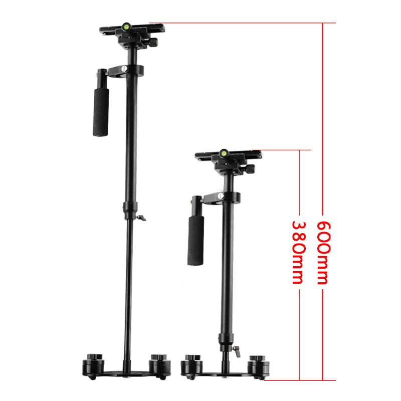 60cm Portable Handheld Stabilizer S60 Aluminum Alloy Video Camera Photography For Canon Nikon Sony DSLR GoPro BB55