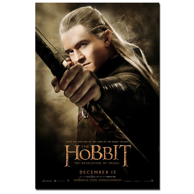 Legolas Greenleaf The Hobbit Movie Poster Canvas Print Wall Art Picture For Room Decor