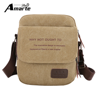 Amarte Hot Selling Men Bag Vintage Canvas Men Crossbody Over Shoulder Messenger Bags Handbag Leisure Travel