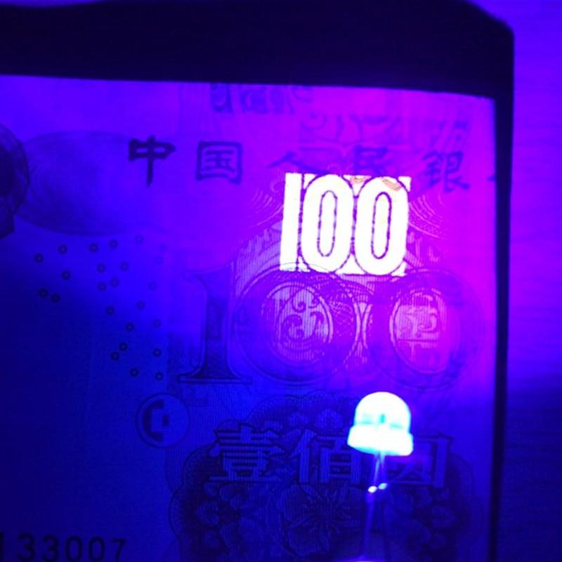 5mm Purple UV Flat Top LED Wide Angle Water Clear Light Leds Lamp New 100pcs