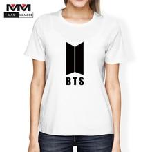 S-2XL 2018 Mulheres Camiseta Feminina Kpop BTS Bangtan Meninos T-shirt JUNG  KOOK JIMIN SUGA V K-pop Rap Monstro JIN Modal T Cami. 2dea85d71bb42