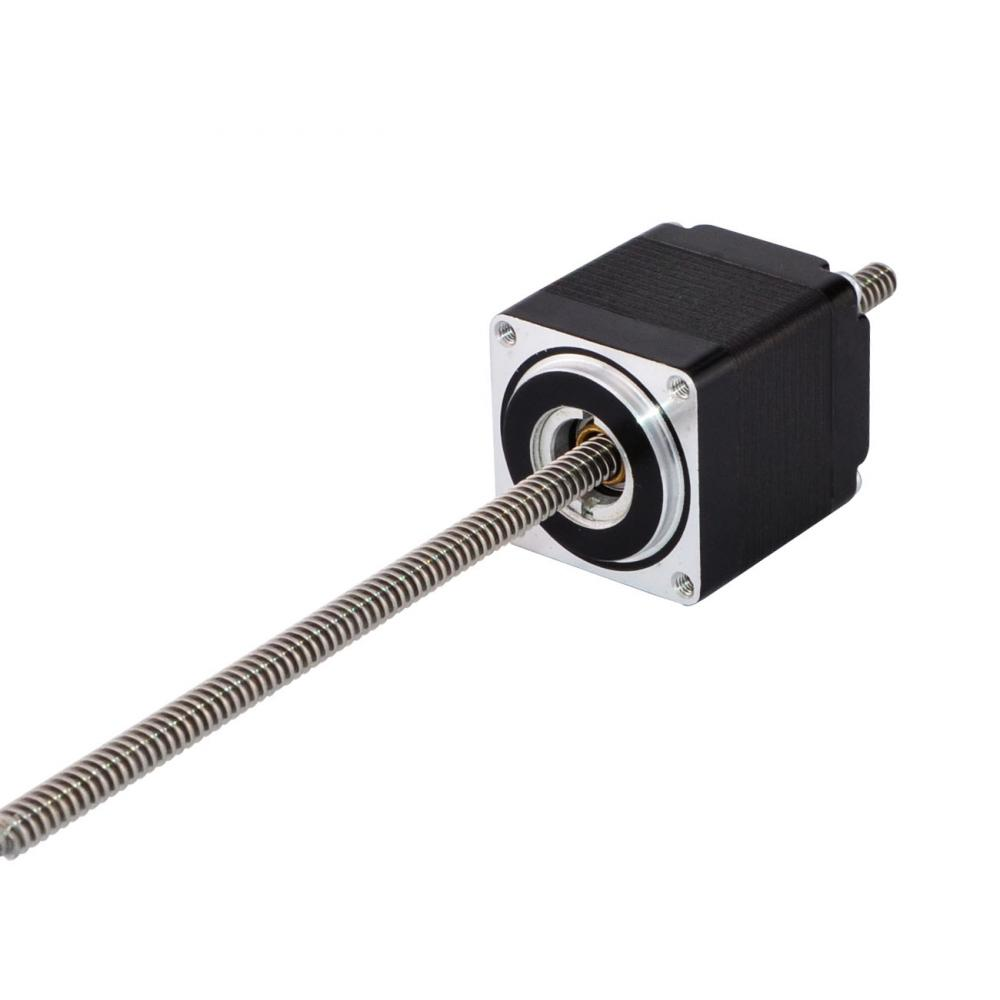 Nema 11 Non-captive Linear Stepper Motor 32mm Stack 4-lead 0.42A with Lead Screw Length 150mmNema 11 Non-captive Linear Stepper Motor 32mm Stack 4-lead 0.42A with Lead Screw Length 150mm