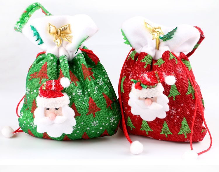 Christmas Gift Bags Part - 19: Aliexpress.com : Buy Christmas Decorations Santa Claus Christmas Gift Bags  Candy Bags Christmas Gift Bags Handbag For Kids Xmas Tree Decorations From  ...