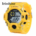 Irisshine Z072 men watches Luxury brand gift Men's Quartz Digital Sports Watches LED Military Silicone Waterproof Wristwatch