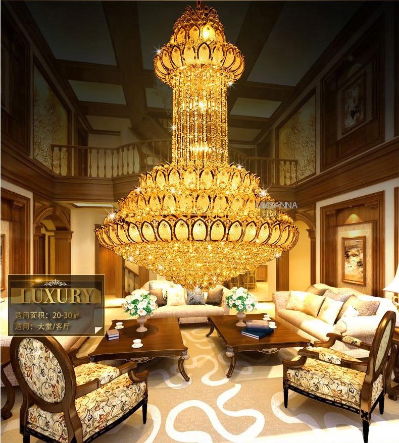 Candelier Kristal LED Moden Emas Lotus Bunga Candelier Pencahayaan - Pencahayaan dalaman - Foto 4