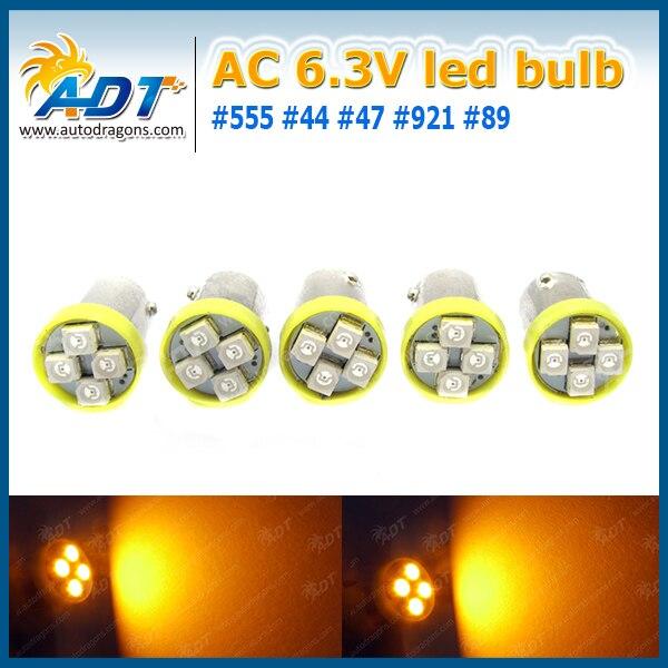 100 шт. #44 #47 BA9S штык База 4 * 3528smd AC 6.3 В пинбол светодиодные лампы для пинбол игровой автомат части не стряхивая анти призрак