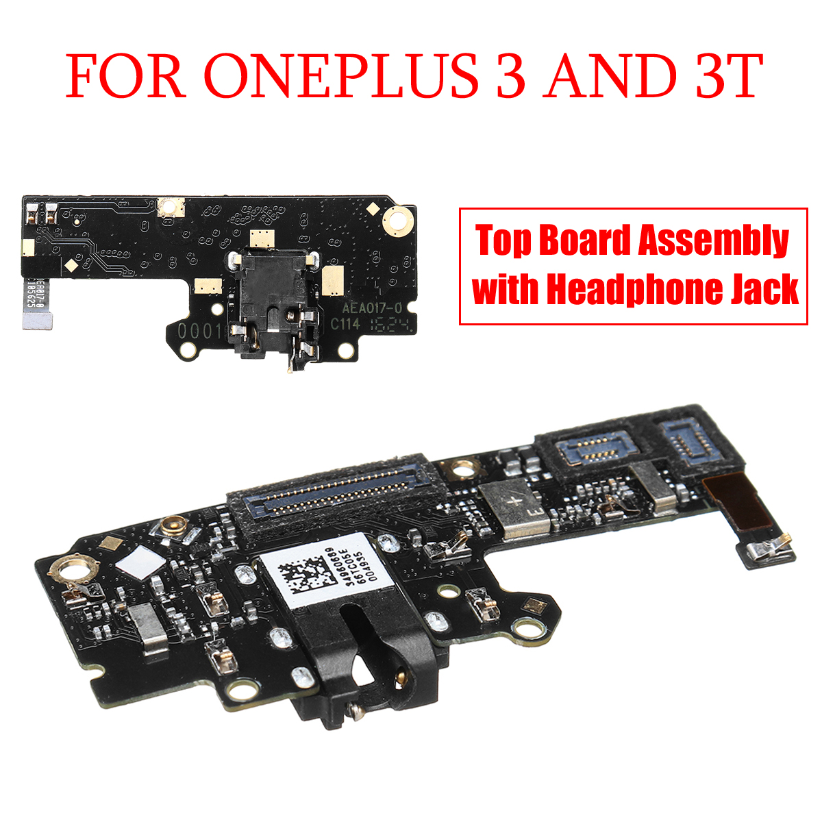 LEORY Top Board With Headphone Jack Replacement Part Assembly For OnePlus 3 Mobilephone Accessories
