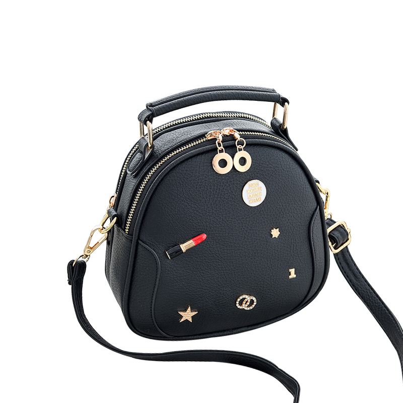 цена на 2018 Korea Fashion PU Leather Large Capacity Handbags Messenger Bag Money Card Storage Oval Bags Casual Shoulder Bag