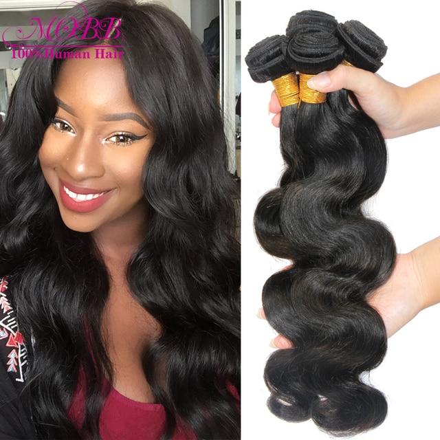 Brazilian Virgin Hair Body Wave 4 Bundles Human Hair Weave MOBB Hair Products Unprocessed Virgin Brazilian Body Wave Hair Weft