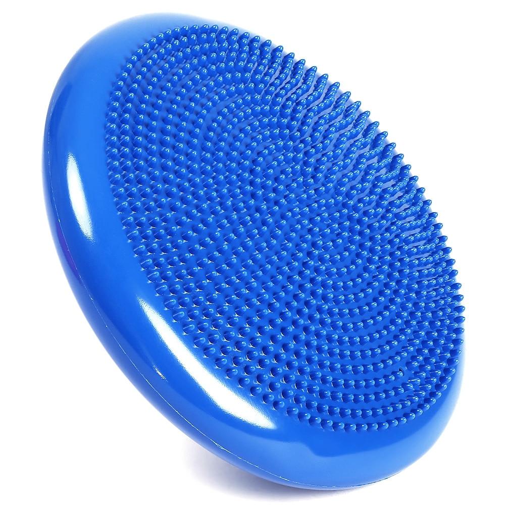 Free Shipping 1pcs Durable Universal Inflatable Sports Fitness Yoga Wobble Stability Balance Disc Massage Cushion Mat
