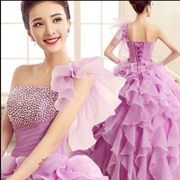 2019 free shipping Purple red cobalt white debutante gowns quinceanera ball dresses vestidos de quinceanera TK664