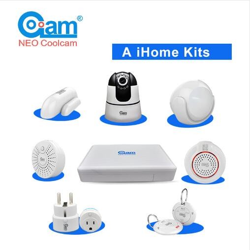 Free Shipping COOLCAM Smart Home Alarm System WiFi Home NVR Gateway Alarm System with Wifi Ip camera 2014 new arrival dahua smart 1u nvr with p2p mini nvr nvr4104 nvr4108 nvr4116 free dhl shipping
