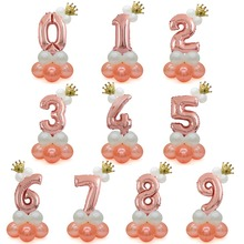 Birthday Balloons Rose Gold Number Foil